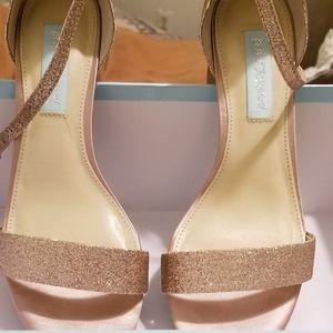 Glitter sandals from Macys